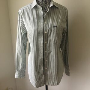 Faconnable Button Down Striped Shirt